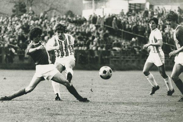 BSG Chemie Leipzig FC Sachsen Klaus-Dieter Gosch  30.4.80 Chemie - Union 0:2 Gosch, hinten Illge Foto: Pampel